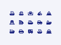 Material Design Icons: Transport