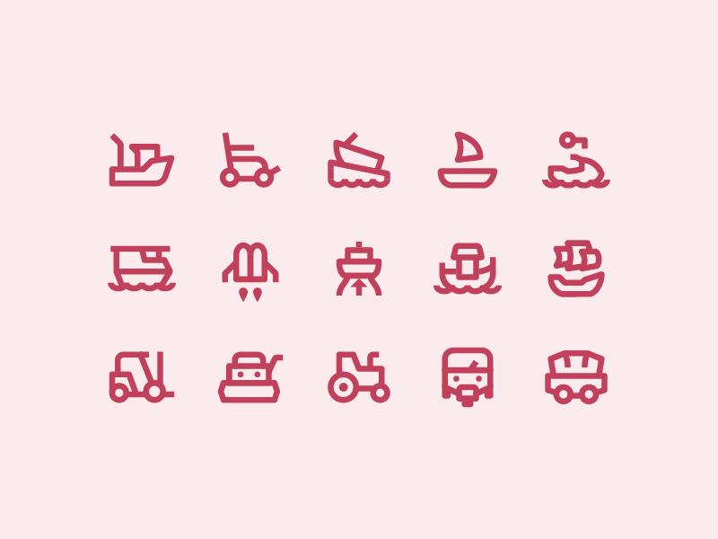 Material Design Outlined: Transport transport material stroke icon design vector outlined illustrator graphic design icon ui design icons8