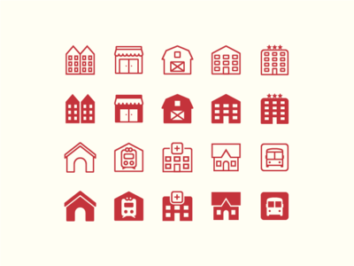 iOS Icons: City icons buildings town house city stroke icon design vector outlined illustrator graphic design icon ui design icons8