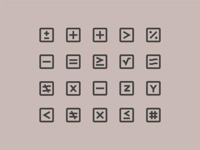 Material Design Icons: Math