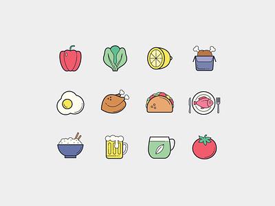 Color Hand Drawn: Food drinks food plasticine design icon design vector outlined illustrator graphic design icon ui design icons8