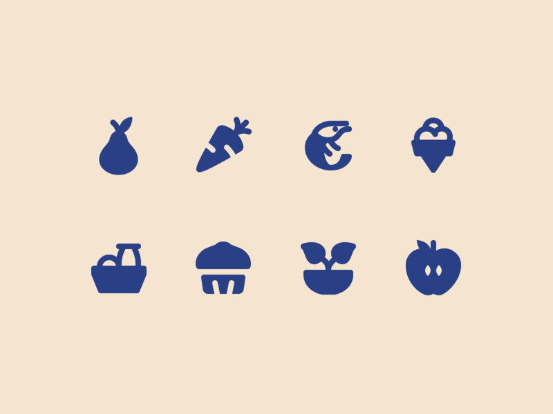 Material, Rounded: Food food rounded material stroke icon design vector illustrator graphic design icon ui design icons8