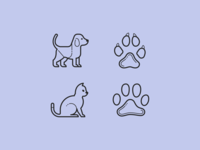 Plasticine & Carbon Copy icons: Sweet Paws