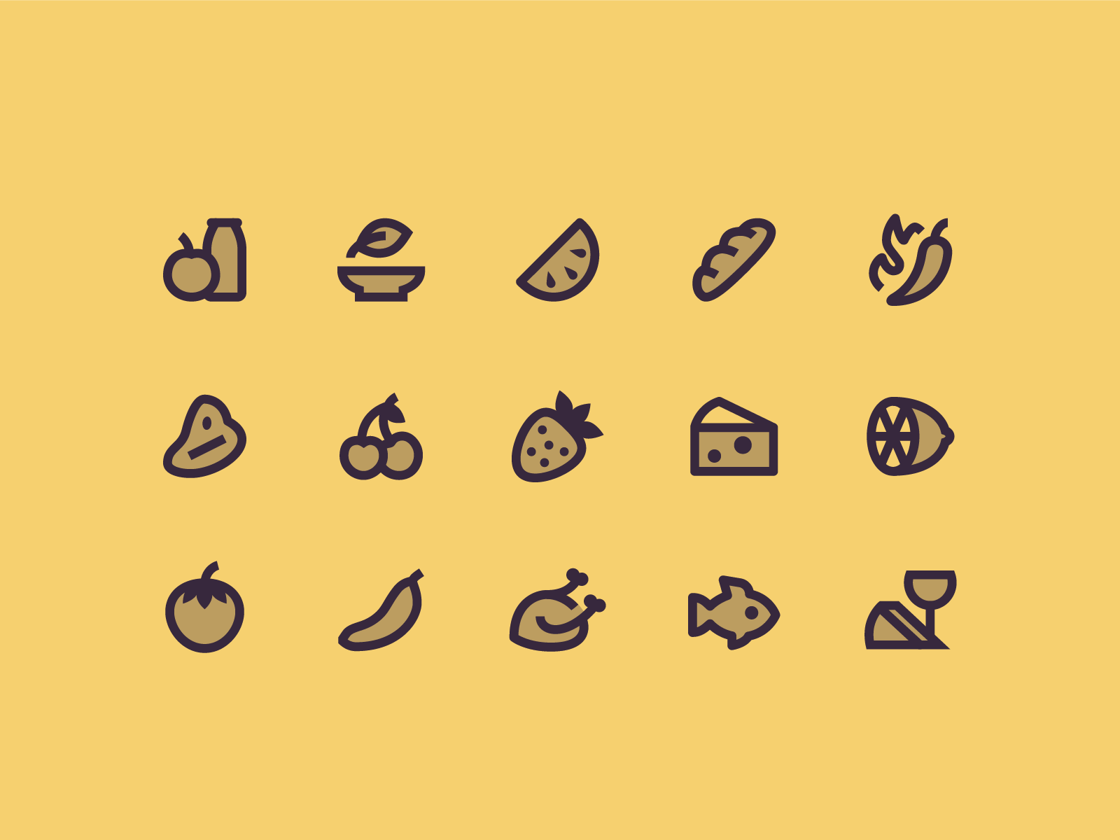 Material, Two-Tone: Food two-tone material food stroke icon design vector outlined illustrator graphic design icon ui design icons8