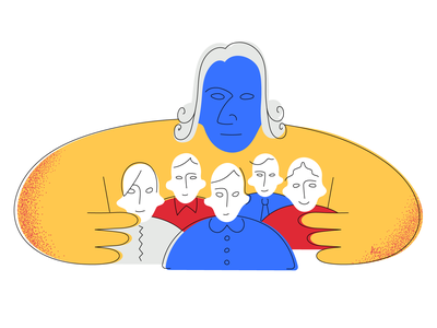 Adam Smith Readings liberty politics adam smith illustration illustrator graphic design