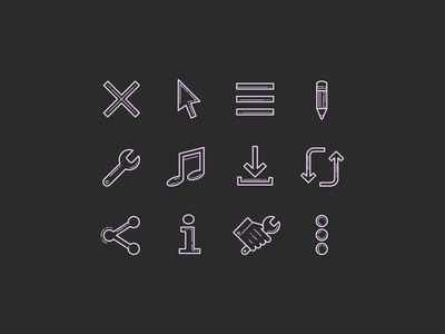 Hand Drawn Icons: Popular Icons and User Interface carbon copy plasticine icons design stroke icon design vector outlined illustrator graphic design icon ui design icons8