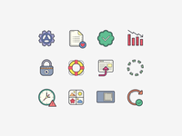 Hand Drawn Icons: Popular Icons and User Interface