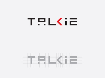 Talkie Logo Alternative Take Rosinski vector typography logotype brand branding talkie.ai identity ai bot corporate ci logo clean design