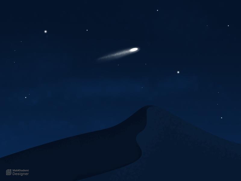 falling star vector illustrator illustration