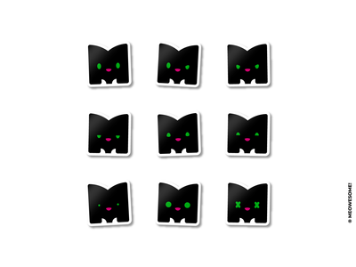 Meowesome! stickers