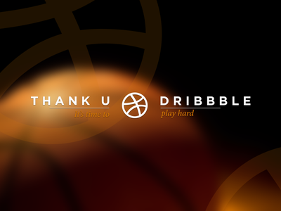 Thanks basket typography graphic contrast orange first shot