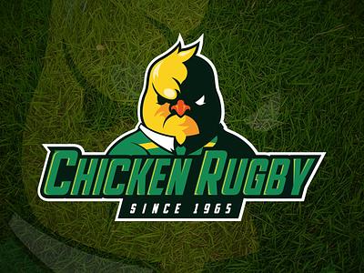 Chicken Rugby Logo teamlogo logo rugby sportslogo logodesign