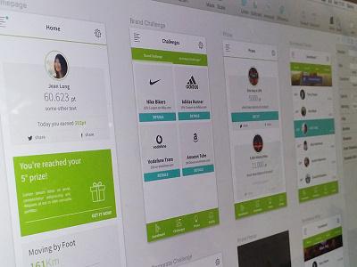 Accenture Hackaton App -WIP appdesign design ux ui green app mobile