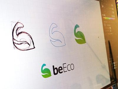 beEco Logotype mobile logo app logo logo design eco gradient logo