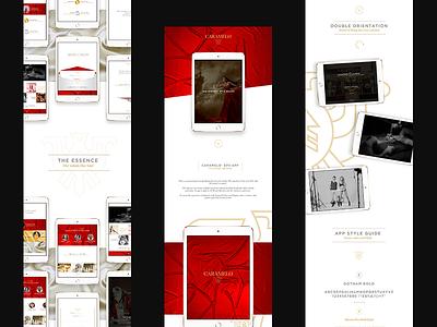DPS App - Caramelo® appdesign design ux ui fashion app mobile