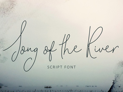 Song of the River Script Font