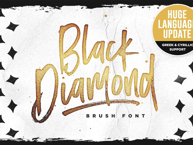 Black Diamond • New Language Update! by Fonts Collection on