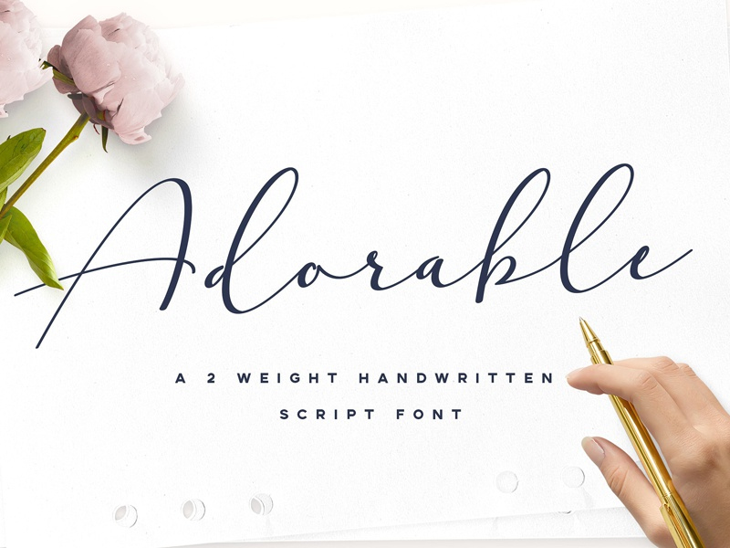 Adorable Handwritten Script Font By Fonts Collection