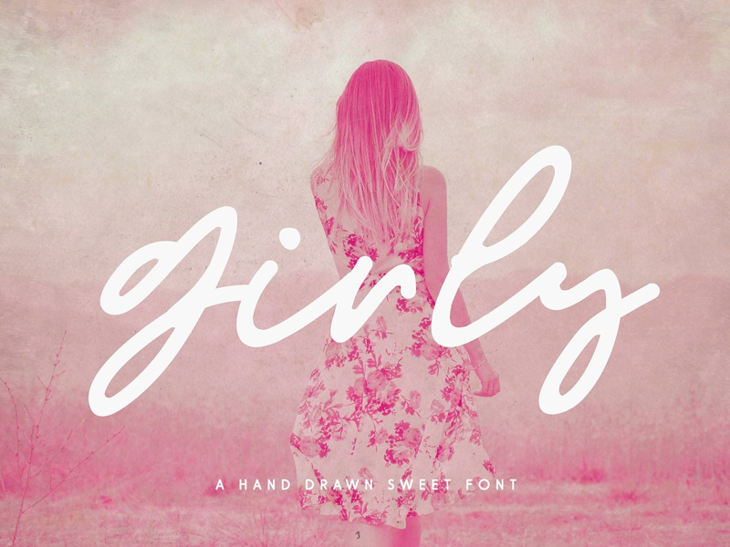 Girly Modern Script Font Duo By Fonts Collection Dribbble Dribbble