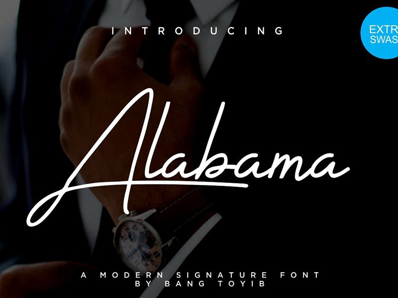 Alabama signature font by fonts collection dribbble