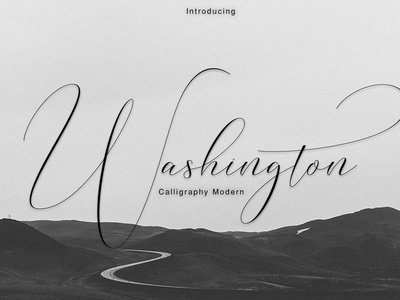 Washington calligraphy modern by fonts collection dribbble