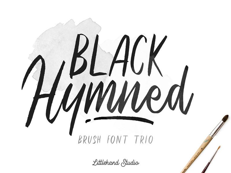 Black Hymned - Font Trio script font calligraphy handwriting font font typography handwritten sans script font trio trio brush quote