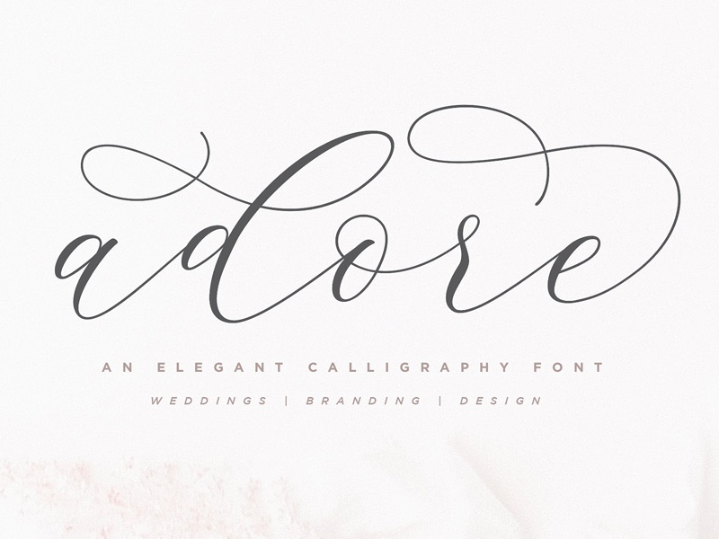 Adore Calligraphy Font By Fonts Collection