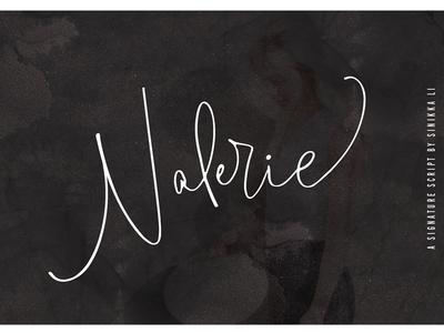 Valerie Signature Typeface