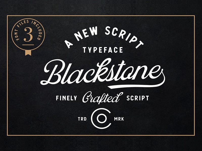 Blackstone Script by Fonts Collection on Dribbble