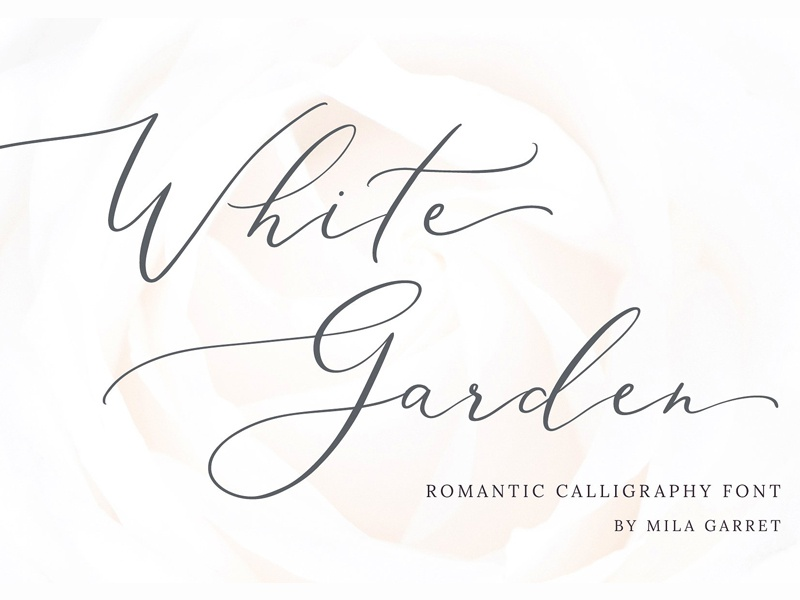 White Garden Calligraphy Logo Font By Fonts Collection