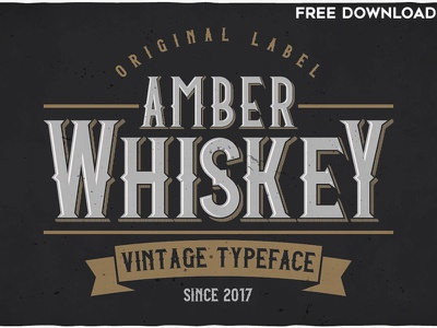 Amber Whiskey Typeface whiskey vintage typeface vintage typeface font text typography bottle alcohol branding lettering free download
