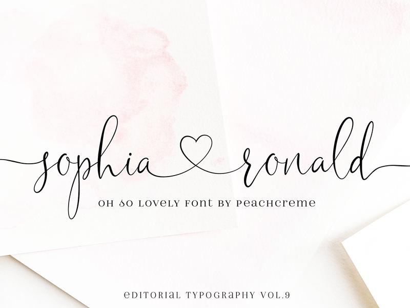 Sophia Ronald // Lovely Script Font blogger font fashion font trendy font romantic font feminine font elegant font logo font lovely font font lovely script font modern calligraphy calligraphy