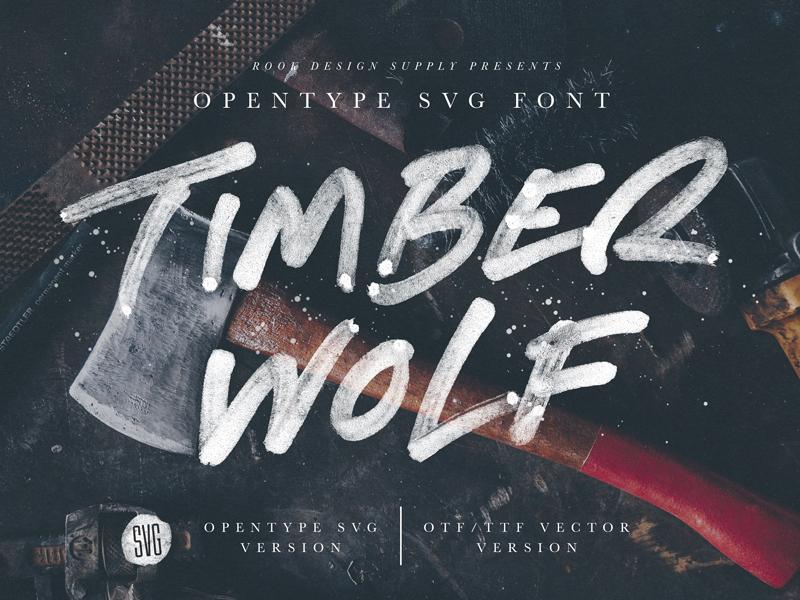 Timber Wolf - Opentype SVG Font handwriting modern advertisement branding rough vintage color font font opentype svg font opentype svg timewolf timber wolf
