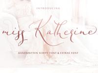 ( FREE Download) Miss Katherine font + Extras & Logo