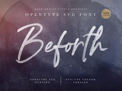 Beforth - OpenType SVG Font