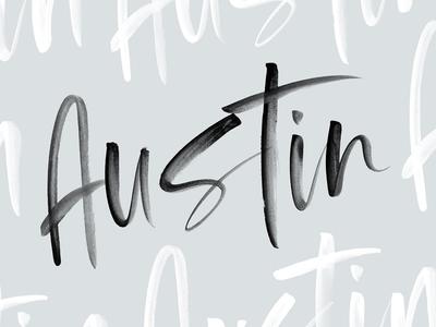 Austin | OpenSVG Watercolor Font