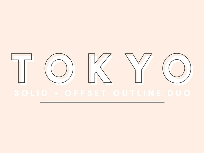 Tokyo | A Designer Font Duo trending branding invitations signage design designer sans serif jen wanger co jen wagner font duo designer font duo tokyo