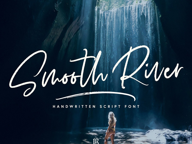 Smooth River Font blog fashion modern trendy dry swashes handwriting invitation wedding brush fonts brush handwritten