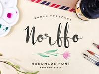 Norffo Font + Watercolor Brush