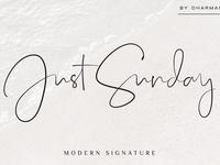 Just Sunday - Elegant Script