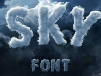 Sky / Cloud Font
