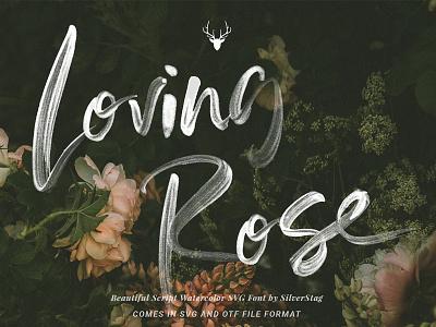 Loving Rose SVG Watercolor Font Pack lovely font ink font elegant font wedding font painted font pack brush font opentype font font watercolor font svg font script font