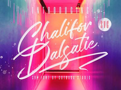 Chalifor Dalsatic SVG FONT branding cool font cool colorful font colorful script font brush font svg font font color script svg