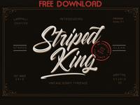 FREE DOWNLOAD - Striped King Vintage Script
