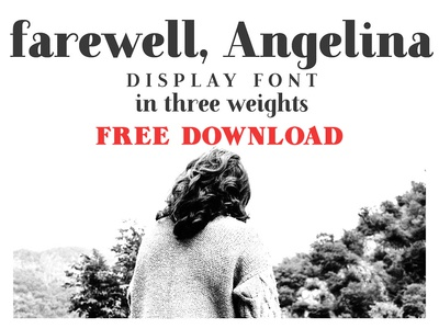 Farewell Angelina Display font - FREE DOWNLOAD