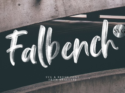 Falbench SVG & Brush Font handwritten feminine fonts collection elegant script bold stylish modern calligraphy typeface lettering typography modern logo branding calligraphy font brush font brush svg font svg