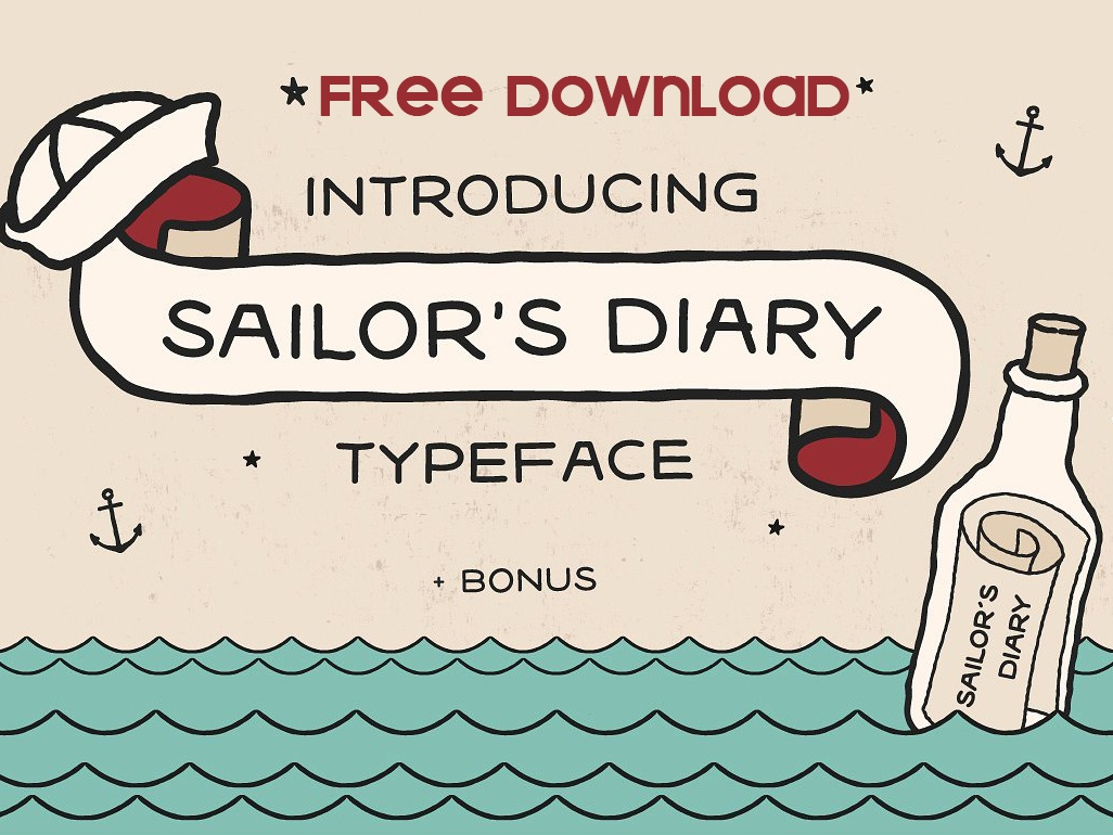 Free Download - Sailors Diary Tattoo Style Font by Fonts