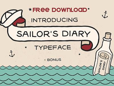 Free Download - Sailors Diary Tattoo Style Font script elegant lettering modern typography logo branding calligraphy font fontself comic retro sailor typeface inked ink tatto tattoo font free download free