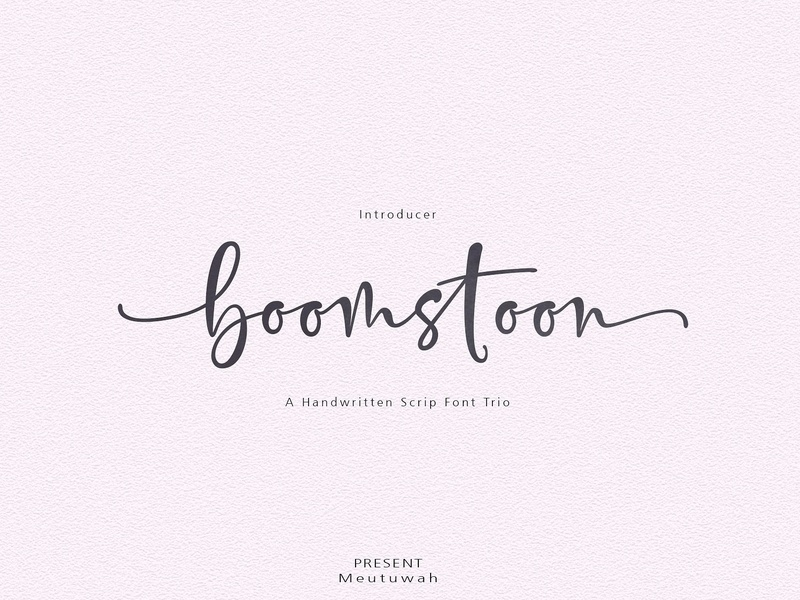 Boomstoon Font Trio by Fonts Collection on Dribbble