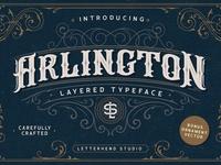 Arlington Layered Font & Ornaments